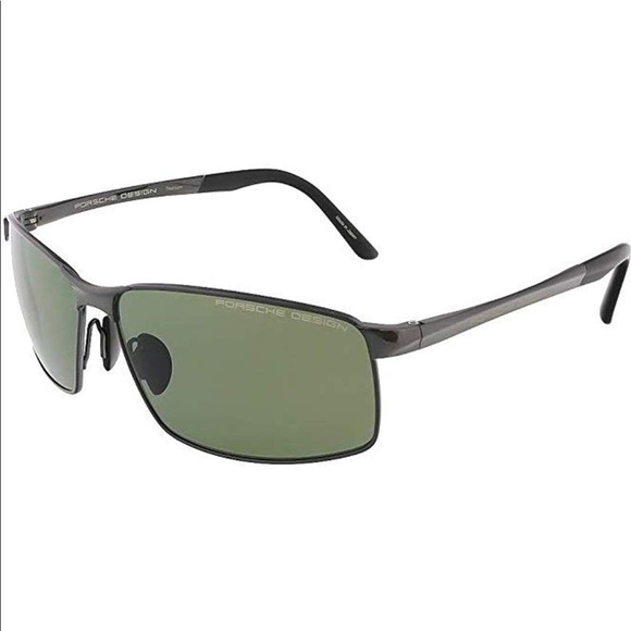 Authentic Porsche Design P 8651 D Gunmetal Polarized Sunglasses